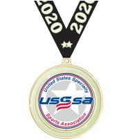 "2 1/2"" USSSA Glow In The Dark Medal"