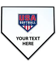 USA Softball Home Plate Plaques