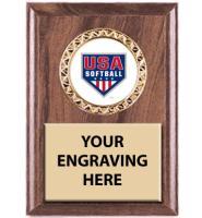 USA Softball Classic Wood Insert Plaques