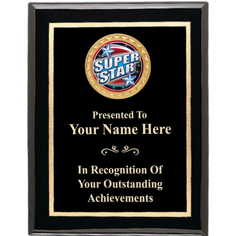 Executive Black Shiny Insert Plaques