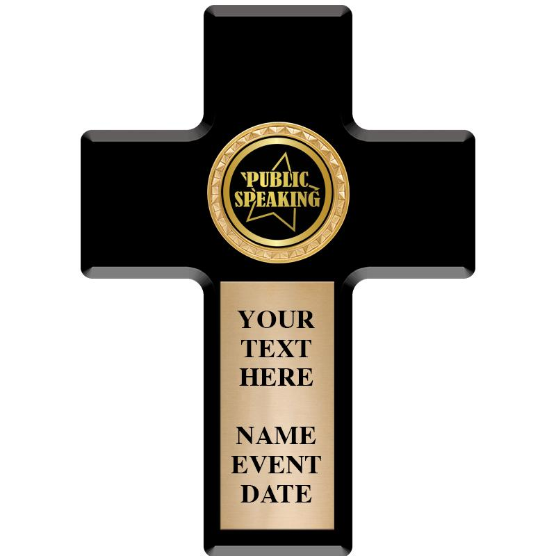 "6"" X 8.5"" INSERT CROSS PLAQUE"