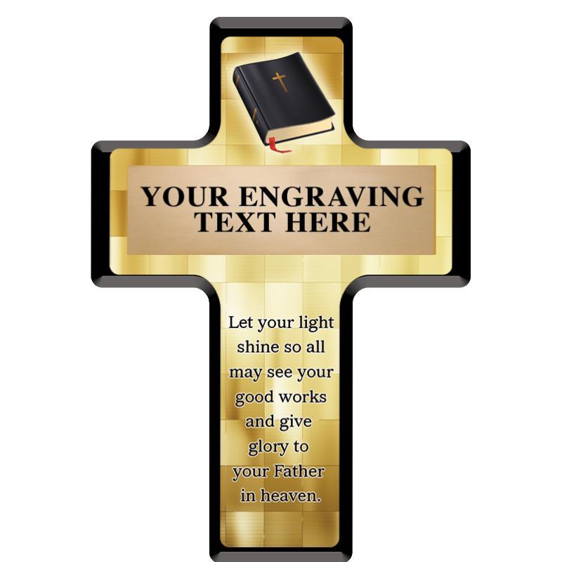 Religious Cross Plaque