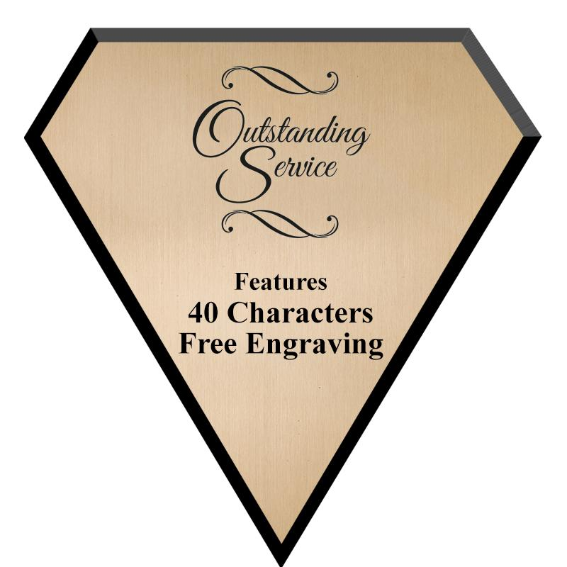 "7"" GOLD PLATE DIAMOND PLAQUE"