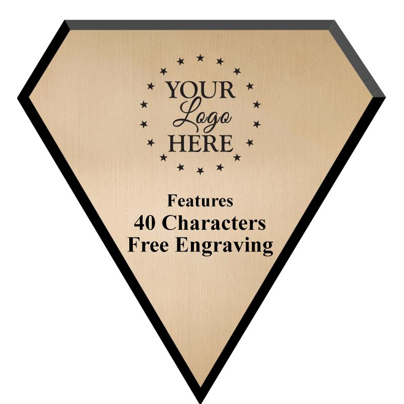 Gold Plate Diamond Plaque
