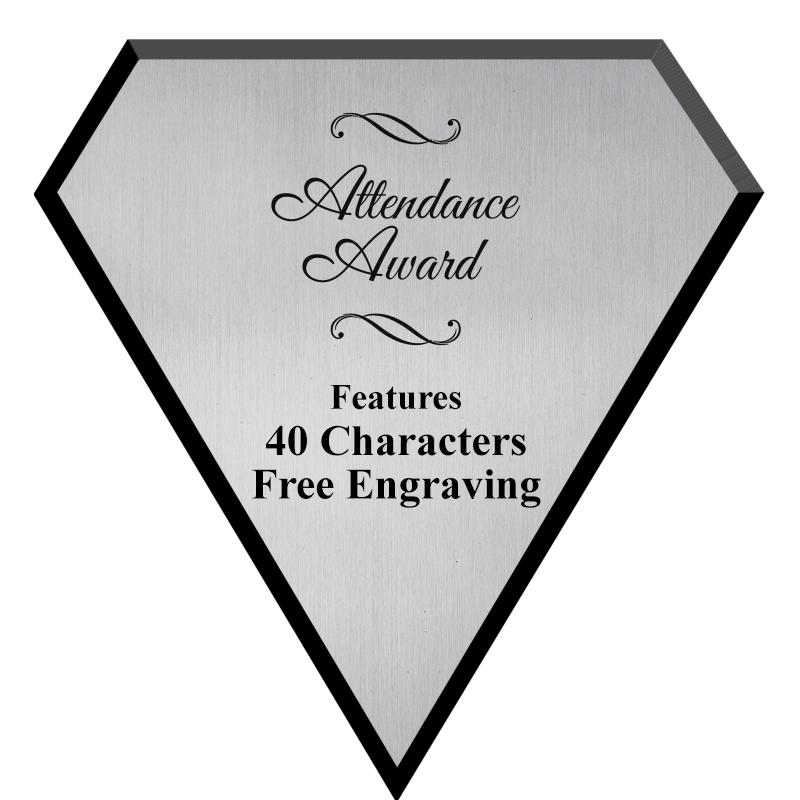 "7"" SILVER PLATE DIAMOND PLAQUE"