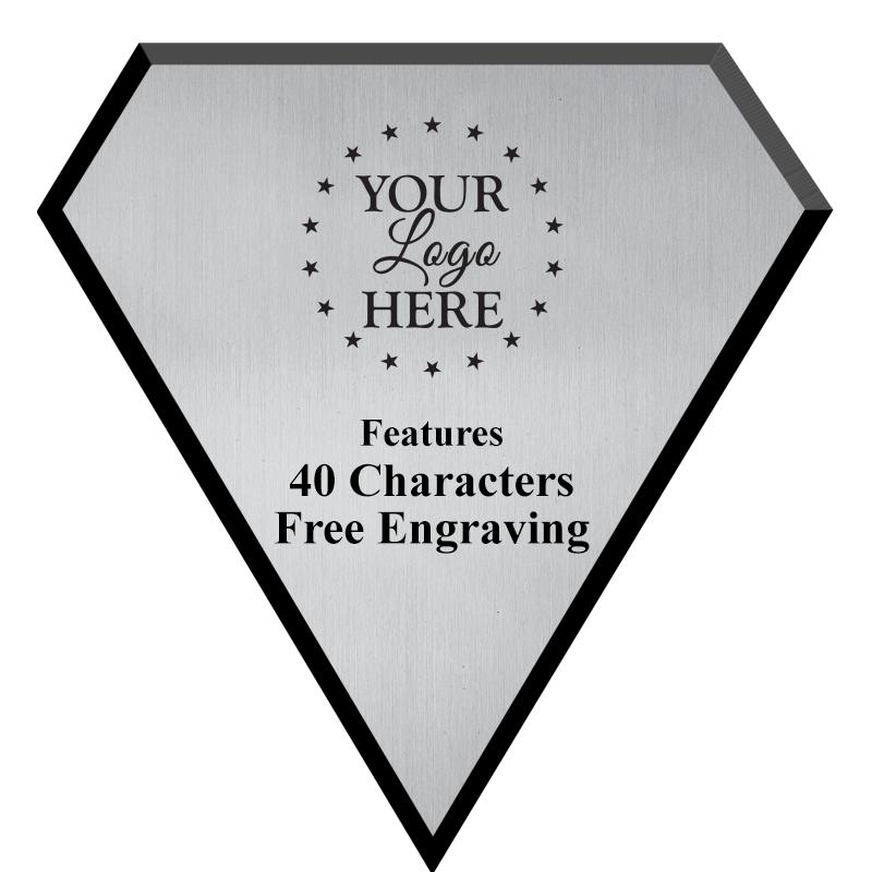 Silver Plate Diamond Plaque