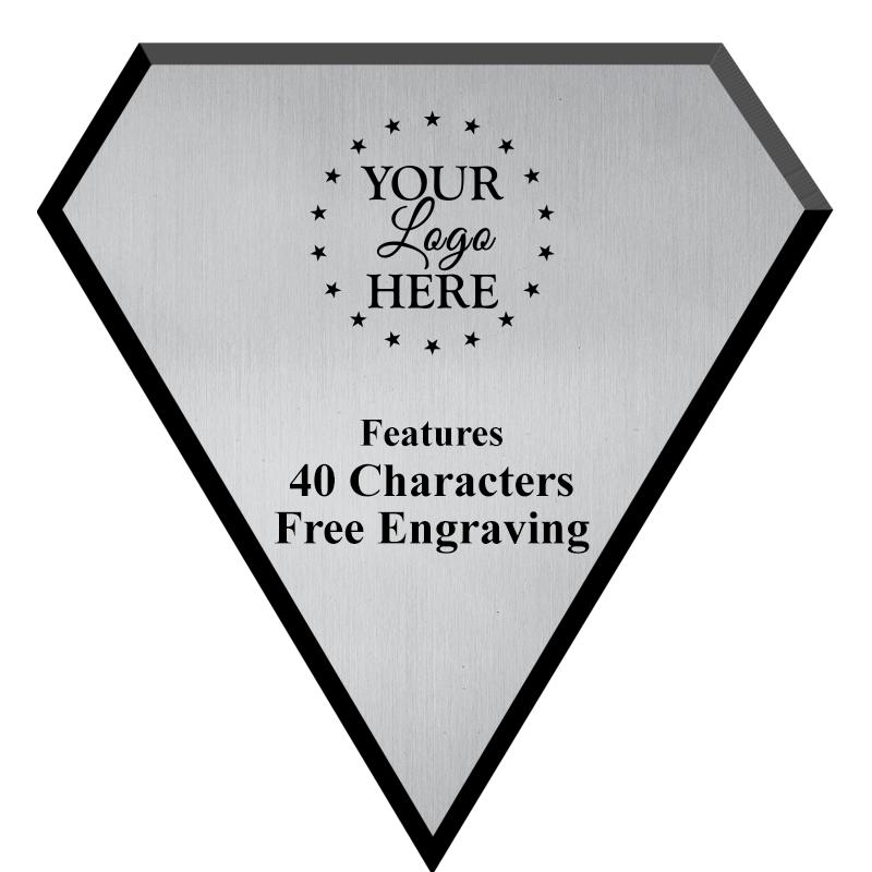 Silver Plate Diamond Plaque