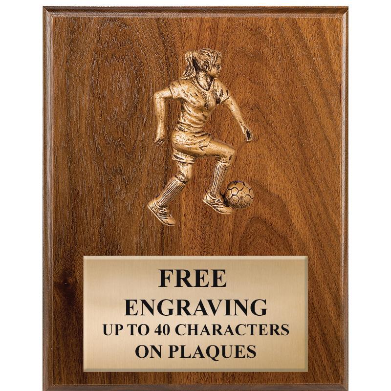 Soccer Sculpted Figure Plaques