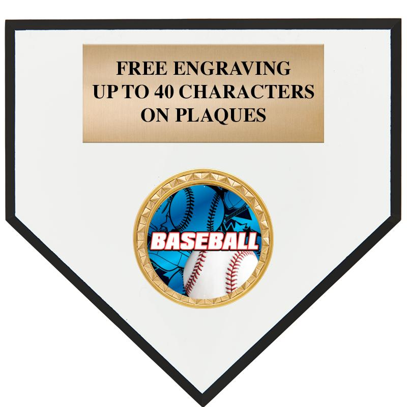"6"" HOME PLATE PLAQUE"