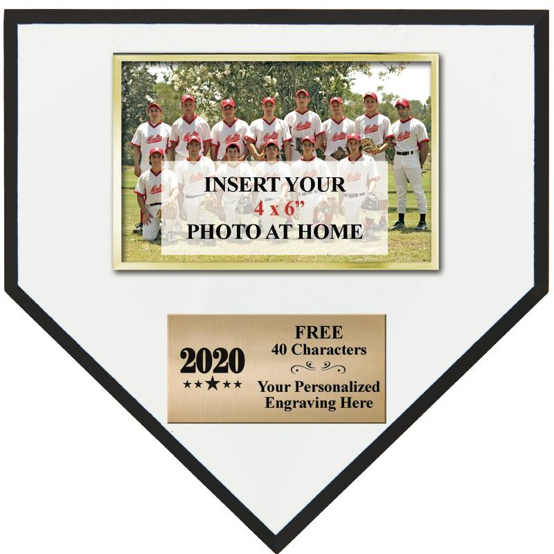 "10"" HOMEPLATE TEAM PHOTO PLQ"