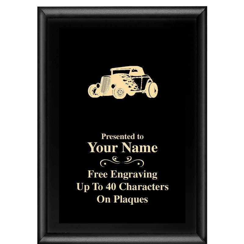 5x7 METALLIX PLAQUE BLACK PLT