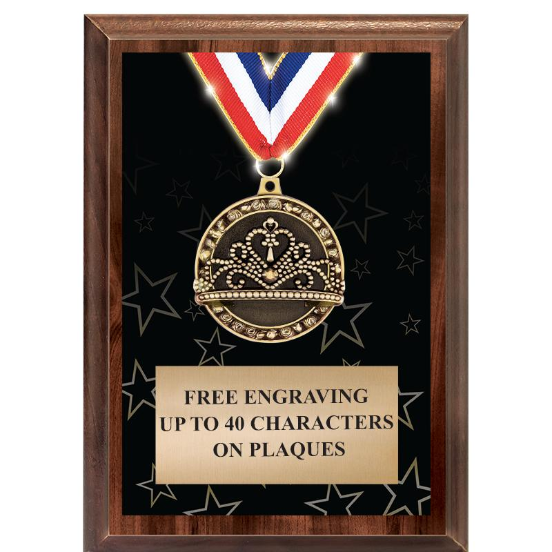 5X7 SHOWSTOPPER MEDAL PLAQUE