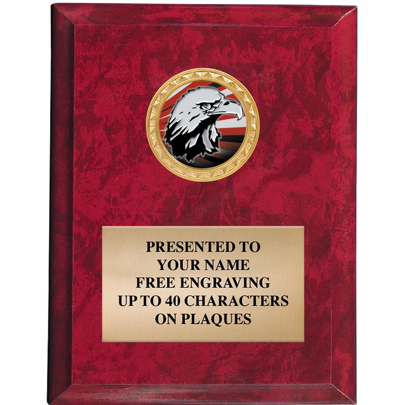 """4""""X6""""RED MBL PLAQUE"""
