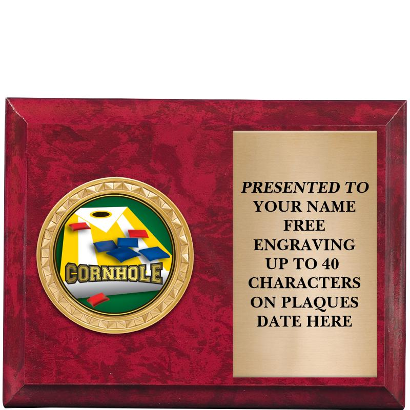 """6""""x4""""RED MBL PLAQUE"""