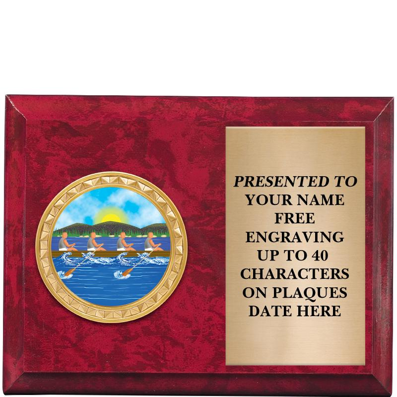 "6""x4""RED MBL PLAQUE"