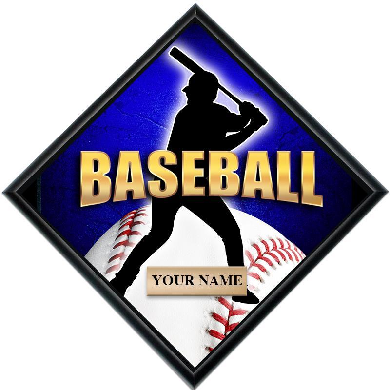 Baseball Diamond Show Stopper Plaque