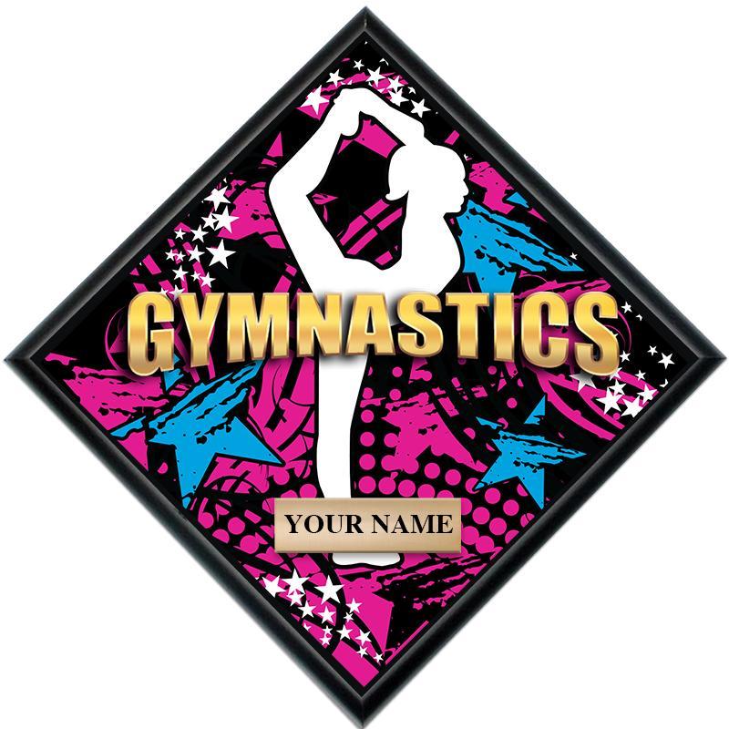 Gymnastics Female Diamond Show Stopper Plaque
