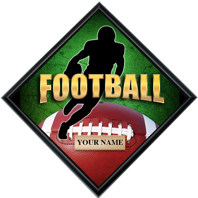 Football Diamond Show Stopper Plaque