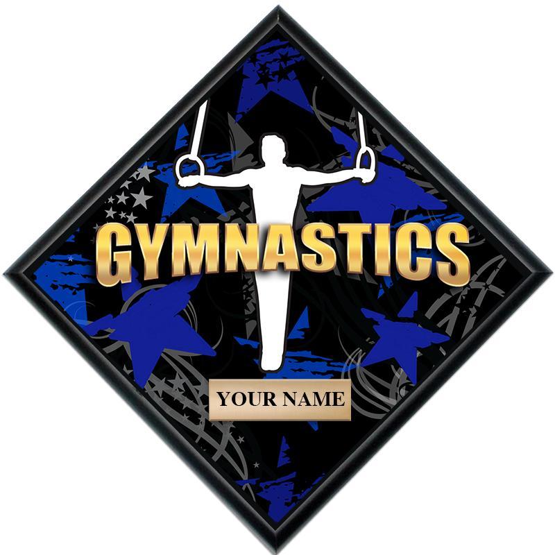 Gymnastics Male Diamond Show Stopper Plaque