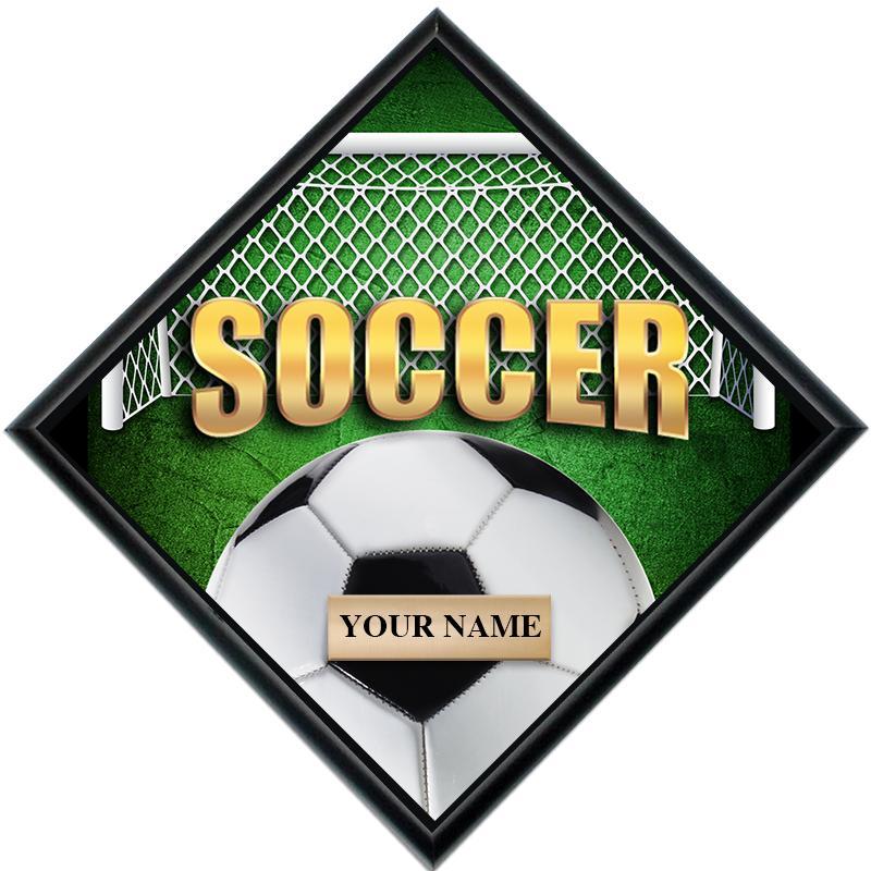 Soccer Diamond Show Stopper Plaque