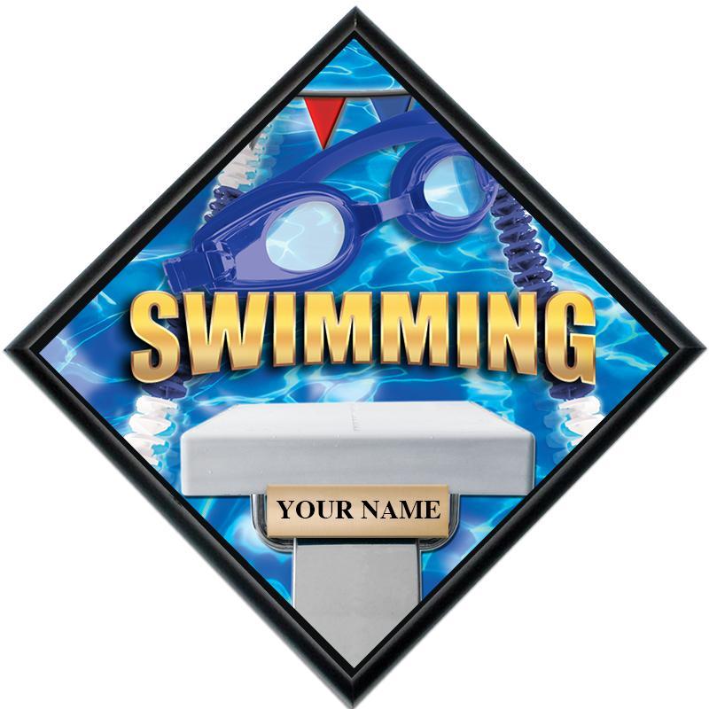 Swimming Diamond Show Stopper Plaque
