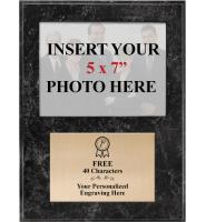 Black Marbleized Photo Plaque