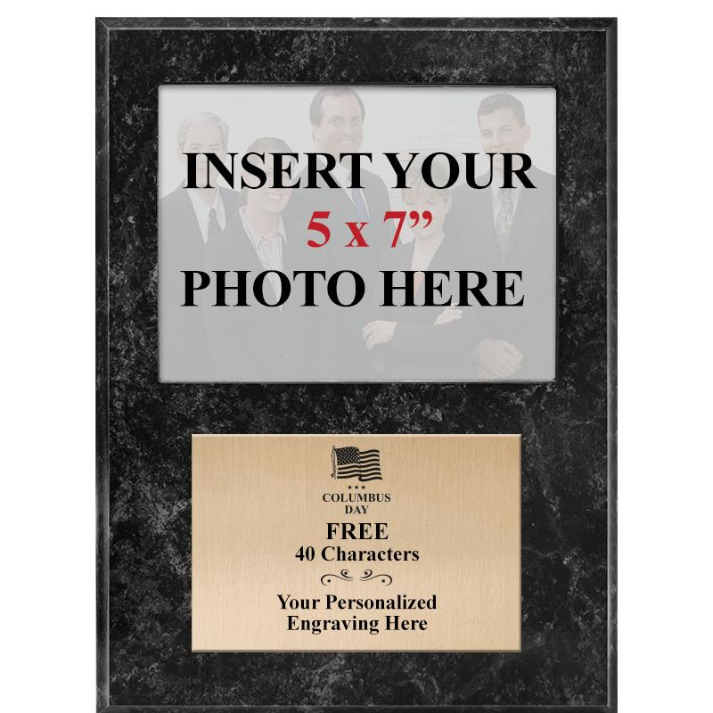 TEAM PHOTO PLAQUE - 9x12 BLACK