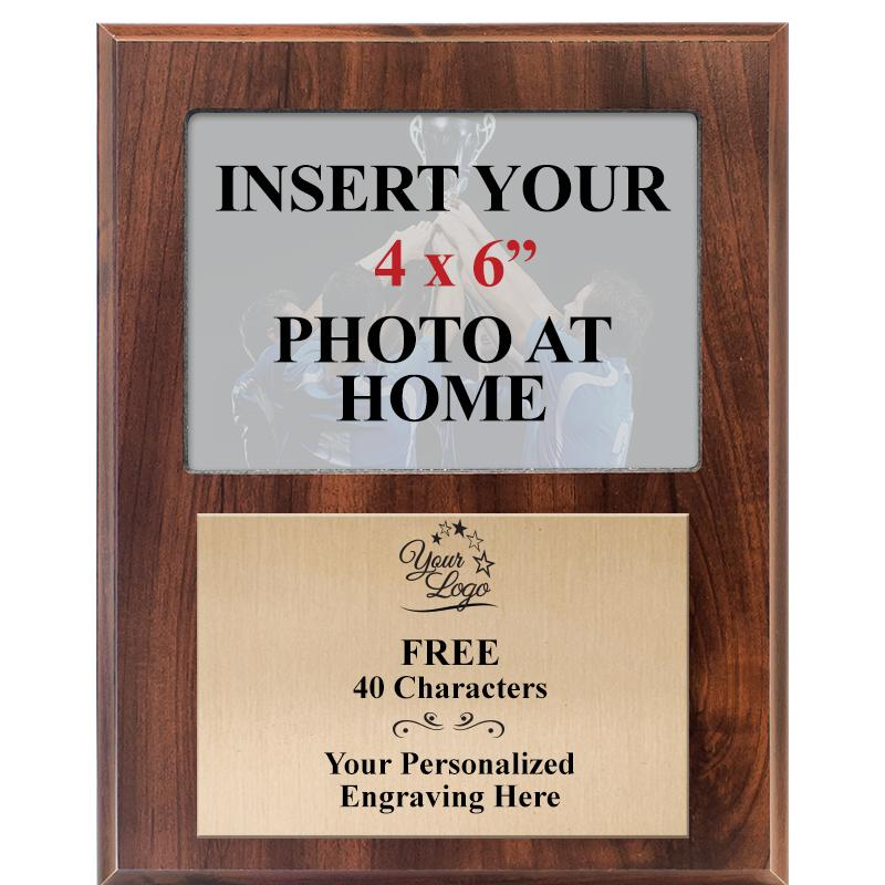Classic Wood Vertical Team Photo Plaque