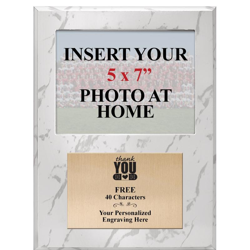 PHOTO PLAQUE- 9X12 WHITE