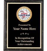 USSSA Executive Black Marbleized Plaques