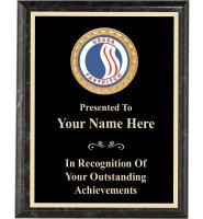USSSA Executive Black Marbleized Plaques