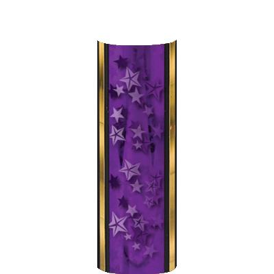 PURPLE-GOLD STARS COLUMN