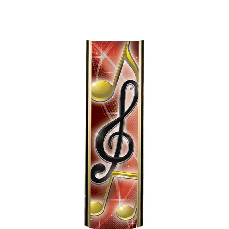 "6"" RED/GOLD MUSIC ULTRA MYLAR"